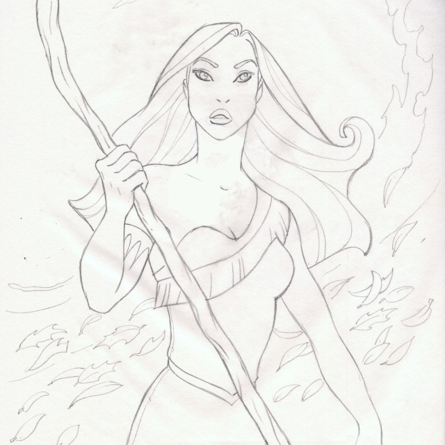 Pocahontas Drawing