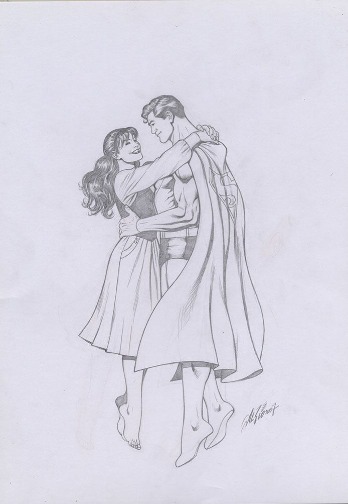Superman Pencil Drawings The Owner of The Drawing