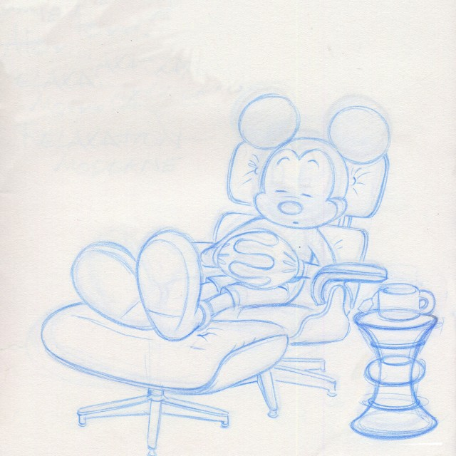 Pencil Drawing Of Mickey Mouse