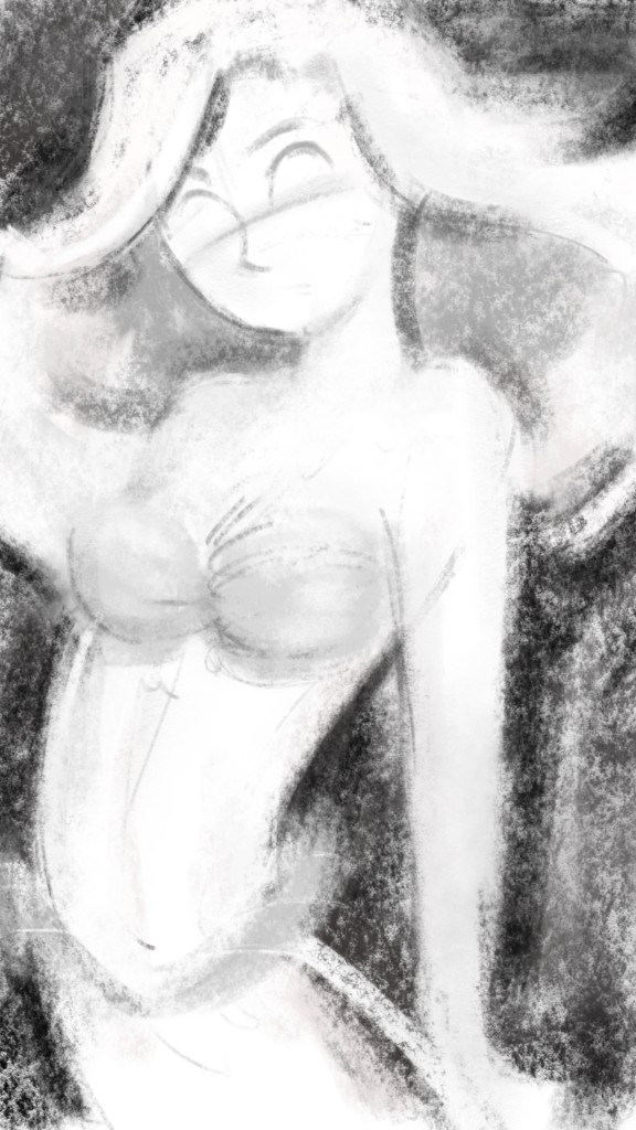 Digital charcoal Little Mermaid